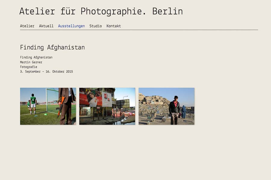 Atelier für Photografie. Berlin, open